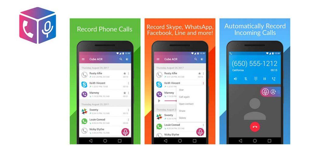 aplicacion para grabar llamadas Grabador de Llamadas Cube ACR