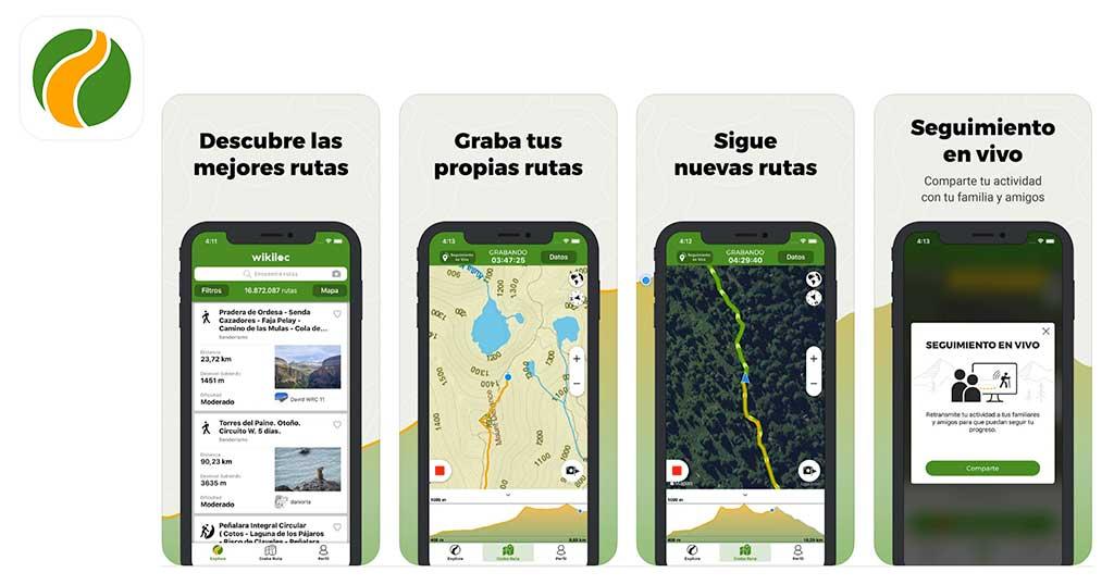 app wikiloc para senderismo